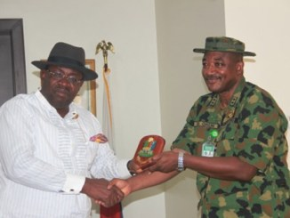 AVM Stephen Ikpletu Onuh and Bayelsa State Governor, Hon. Seriake Dickson