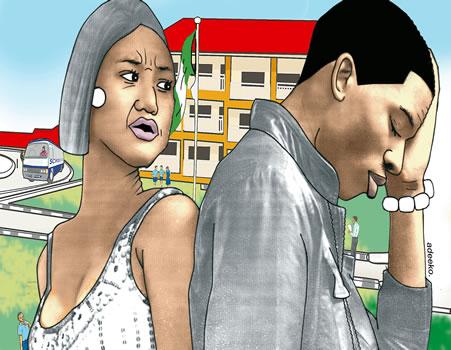 rent husband wife, Kanise,court, school, Bashir