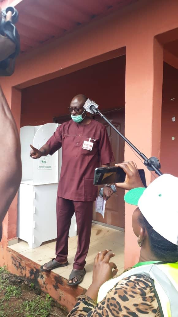 APC's Ize-Iyamu casts vote