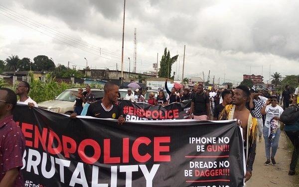 protest #ENDSARS protesters take over Warri streets