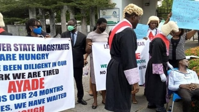 protesting Cross River magistrates