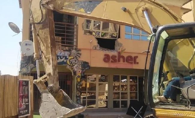 Asher lounge, Kaduna demolition