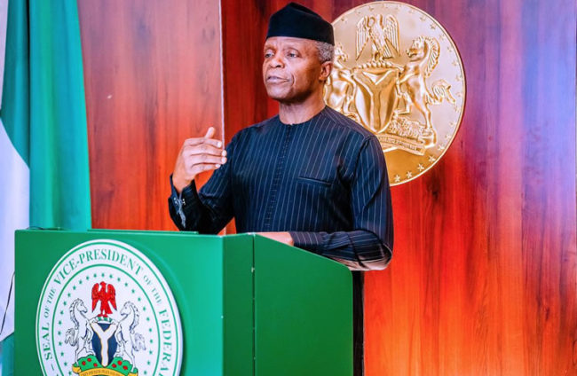 FG commits $1bn to three flagship road projects, Osinbajo to political elite, Osinbajo, Things will be good, FG boosts economic development