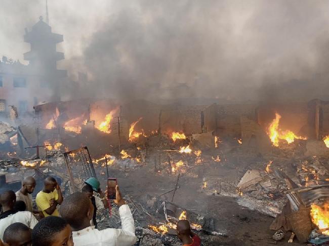 How shops were burnt