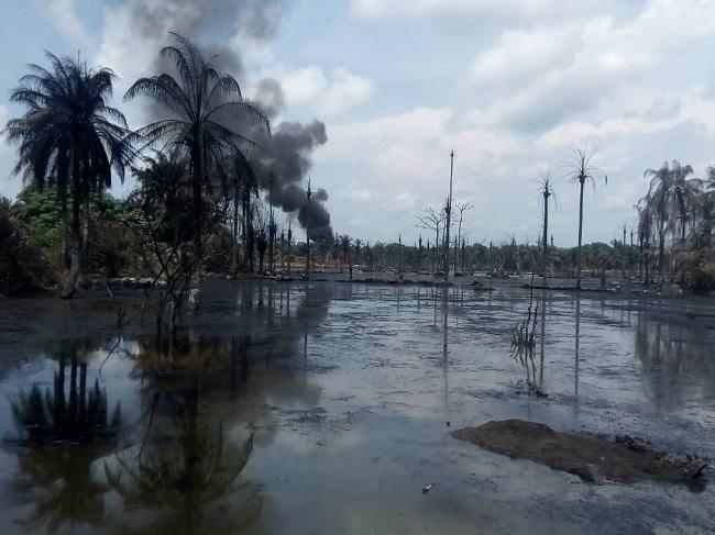 Shell facilities set ablaze