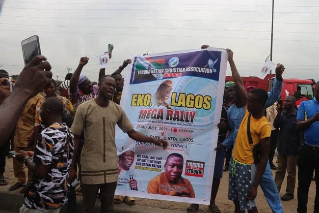Yoruba Nation, Lagos rally