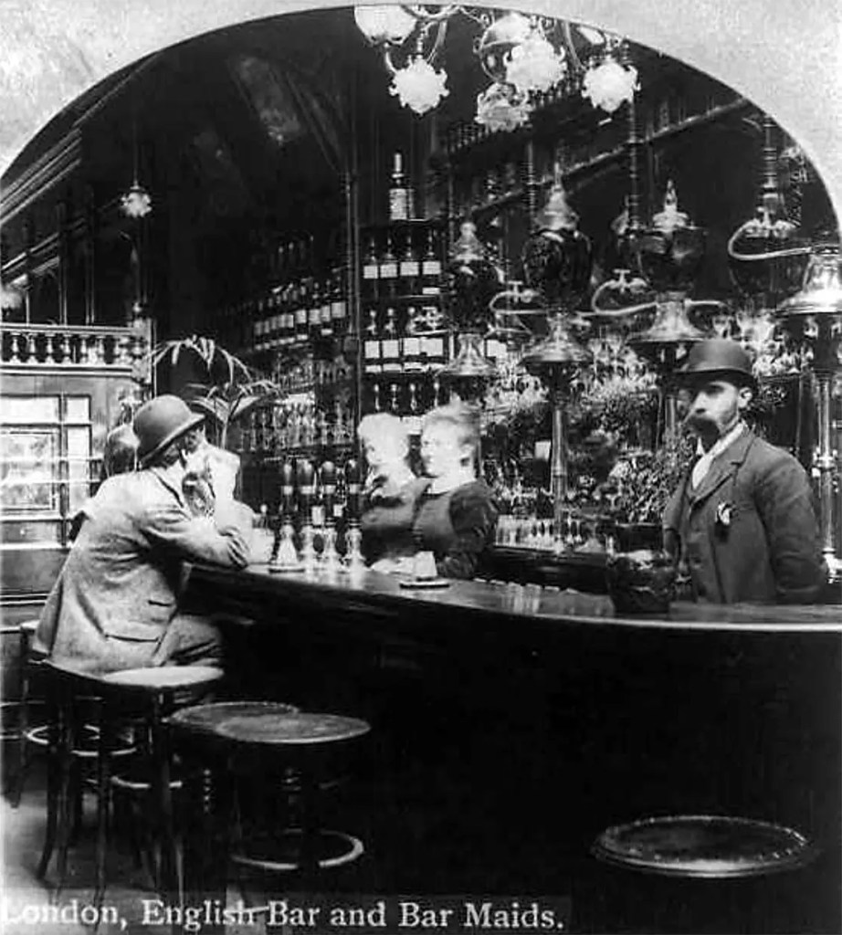 Old Bar Photo by American Photographer William H. Rau - London, England - ca 1893