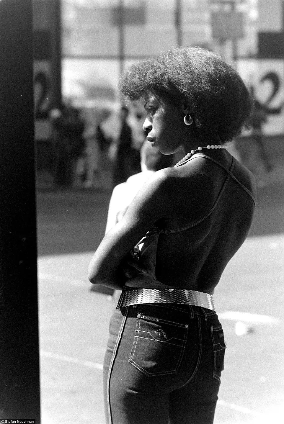 Photo - Woman on the Streets outside Terminal Bar - 1970s