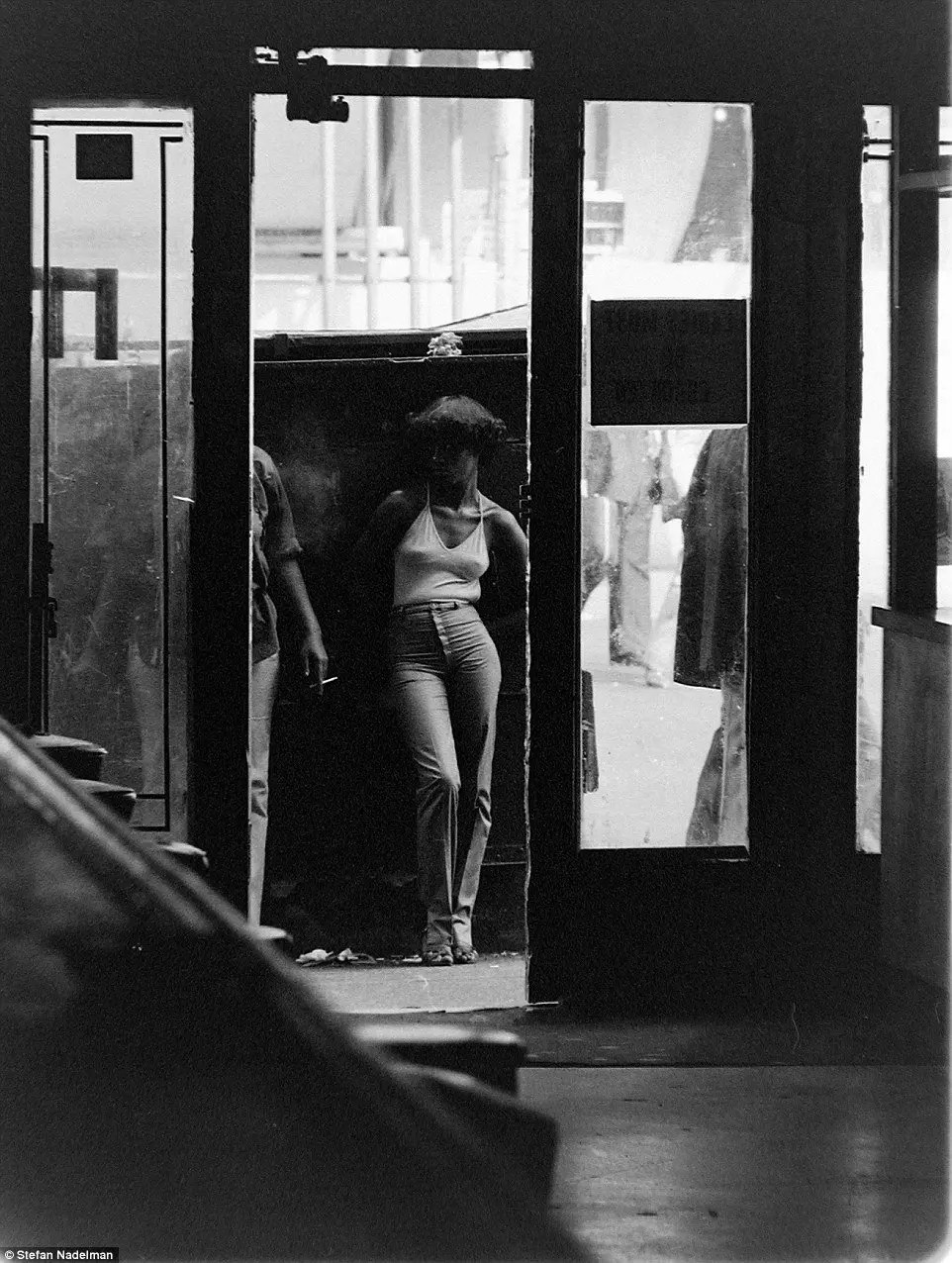 Old Photo - Working Girls outside Terminal Bar - 1970s New York