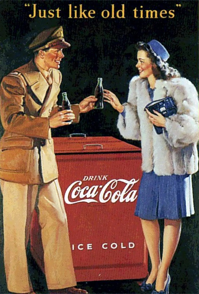 1945 - 'Just Like Old Times' - Post WW II Advertising