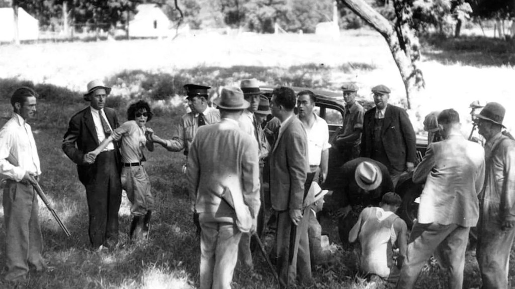 Photo of Blanche Barrow Being Arrested 1934