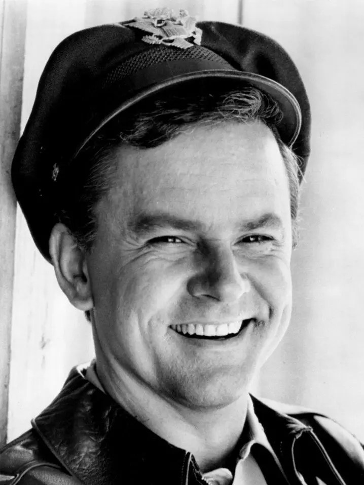 Photo of Bob Crane as his most famous character, Colonel Hogan. 1969