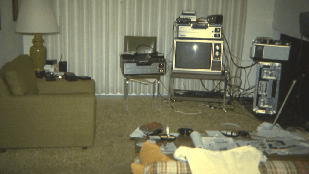Photo of Bob Crane Living Room Recording Equipment Before His Death