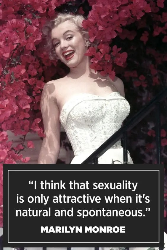 Sexuality Quote - Marilyn Monroe
