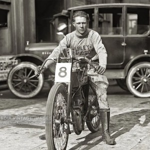 "1922 Harley-Davidson Photo – Fred ""Freddy"" Fretwell Double Winner"
