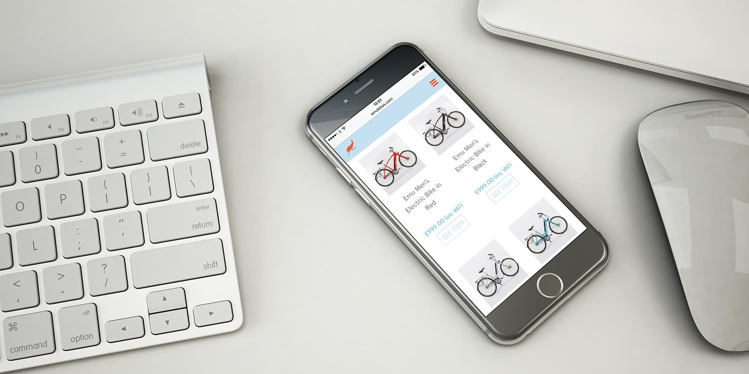 The Emu Bikes e-commerce website design – Tribus Creative – ecommerce website design for small business