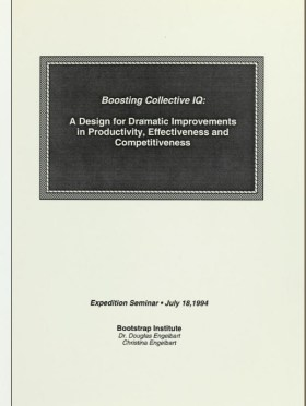 """Introducing the term """"Collective IQ"""" (1994)"""