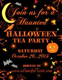 Halloween Tea Party Button