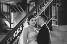 Jenna and Jake in Milwaukee, photo by Bellow Blue Photography
