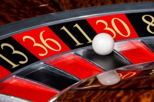 Classic Casino Roulette Wheel With Black Sector Eleven 11