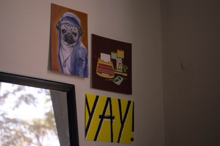 Put up new art prints in my dorm room wall. #SupportLocalArtists