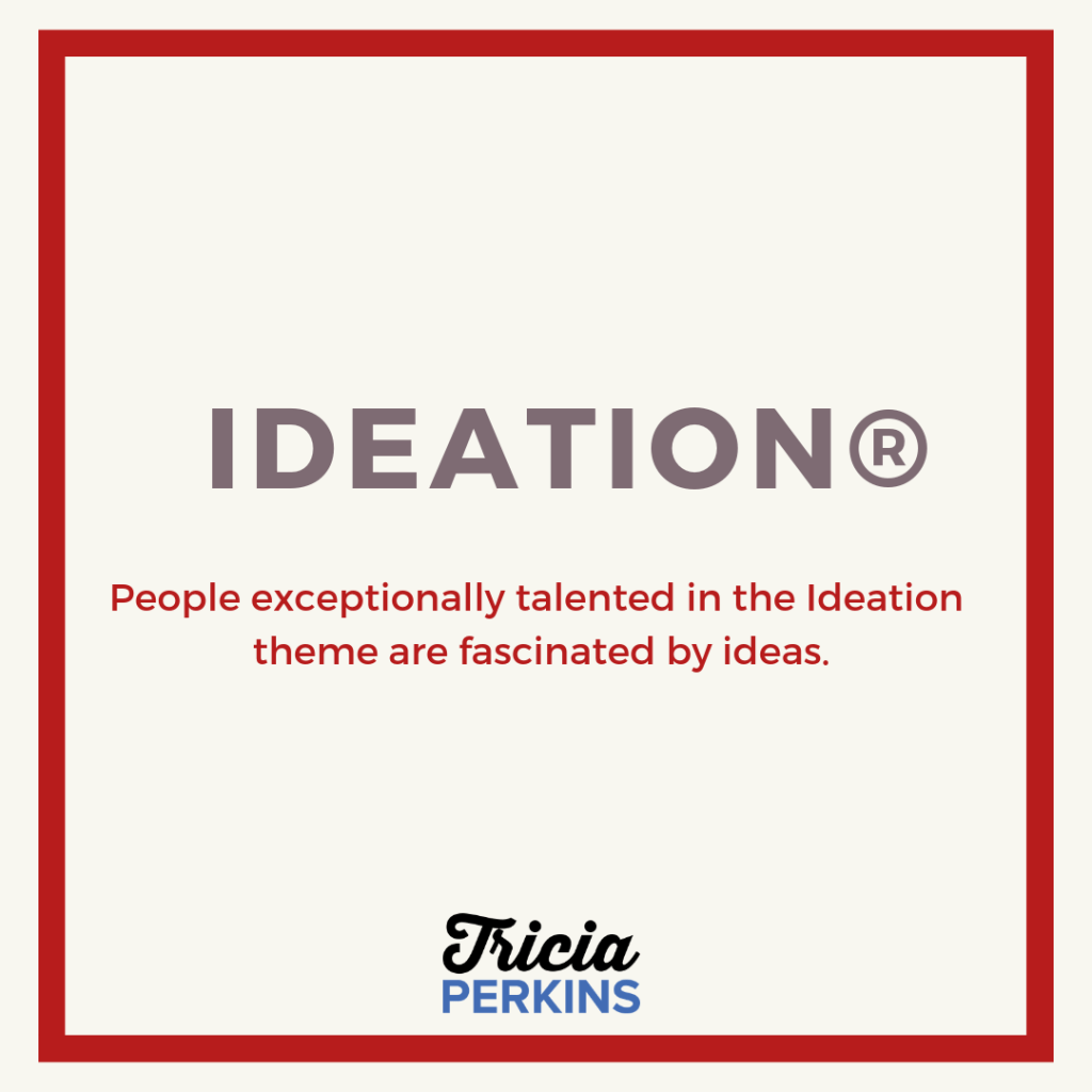 Gallup Ideation Theme Card