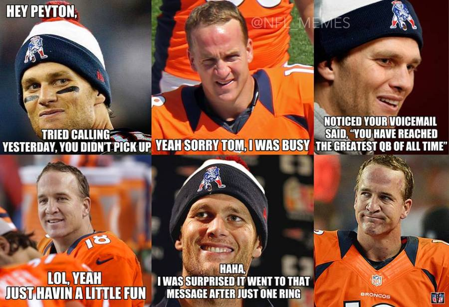 That's right ,Peyton .. count the rings !