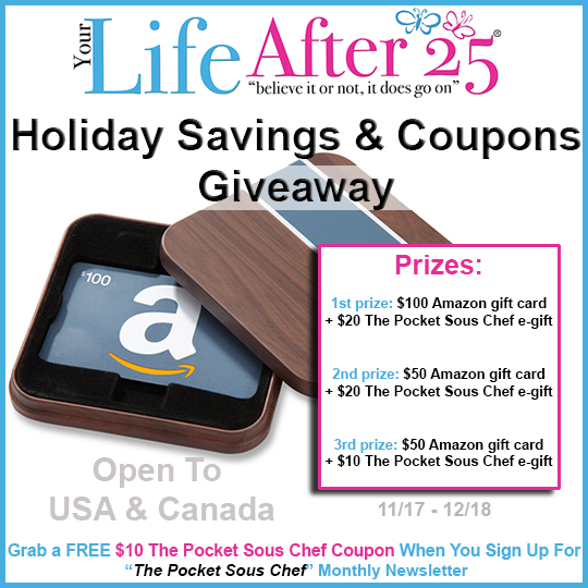 Holiday Savings & Coupon Giveaway !