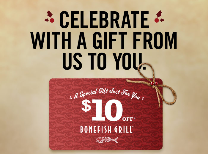 Bonefish Grill- $10 Gift Card From Bonefish Grill