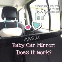 Always Know What ‪#‎Baby‬ Is Doing. ‪#‎AllyAndJoe‬ Baby Car Mirror!