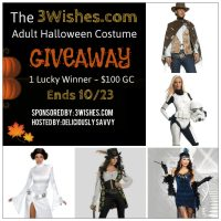 3 Wishes Giveaway – Adult Halloween Costume~ 1 Lucky Winner Receives $100 To Spend!