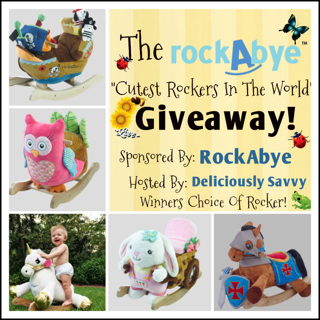 "Blogger Opp: The rockAbye ""Cutest Rockers In The World"" Giveaway! (Up to $160 RV) #Free & #Paid Options Available (Sign Up Today!)"