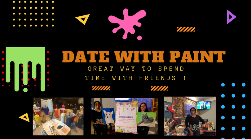 Local Spotlight On Business: Date With Paint Night. #SupportTheArts