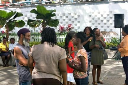 Mingling with Mbala and Millicent after the event