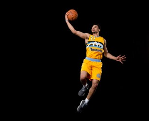 TARRYTOWN, NY - AUGUST 7: Jamal Murray of the Denver Nuggets poses for a portrait during the 2016 NBA rookie photo shoot on August 7, 2016 at the Madison Square Garden Training Facility in Tarrytown, New York. NOTE TO USER: User expressly acknowledges and agrees that, by downloading and or using this photograph, User is consenting to the terms and conditions of the Getty Images License Agreement. Mandatory Copyright Notice: Copyright 2016 NBAE (Photo by Nathaniel S. Butler/NBAE via Getty Images)