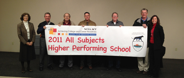 2011 All Subject Higher Performing School by NCEA Banner