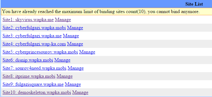 site-list