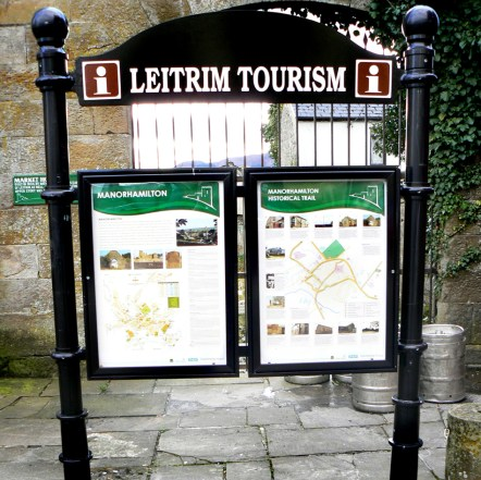 The displays were positioned throughout Co Leitrim illustrating factual and Historic info about the area. Maps and business also Listed