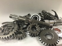 An RM125 Set of Gears After Superfinishing