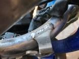 Weld repair on KX450 frame