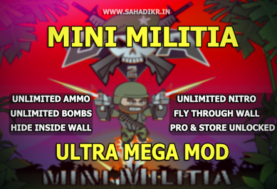 mini militia hack version download unlimited health and ammo nitro