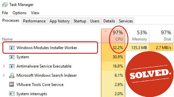 windows modules installer worker high cpu windows 8