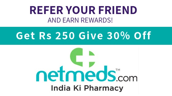 Netmeds Referral code and coupons