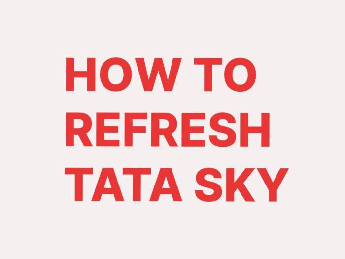 HOW TO REFRESH TATA SKY