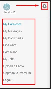 how to delete care.com account