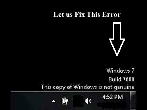 this copy of window is not genuine