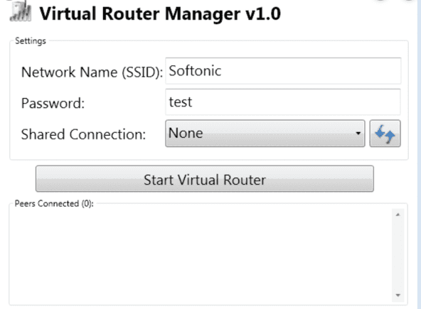 Virtual Router for Windows