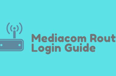 MediaCom Router Login