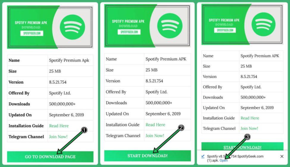Spotify Premium APK İndiriliyor