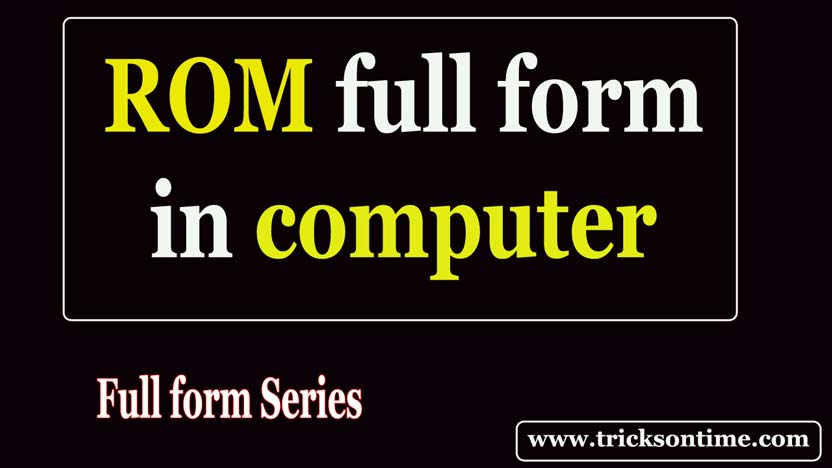 rom full form in computer